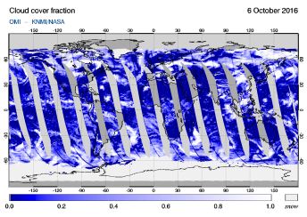 OMI - Cloud cover fraction of 06 October 2016