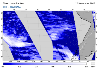 OMI - Cloud cover fraction of 17 November 2016
