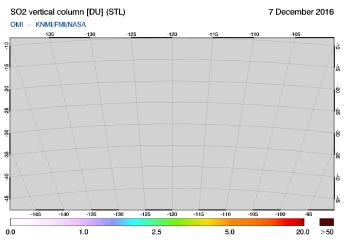 OMI - SO2 vertical column of 07 December 2016