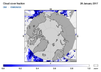 OMI - Cloud cover fraction of 26 January 2017