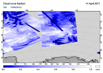 OMI - Cloud cover fraction of 14 April 2017