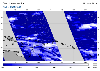 OMI - Cloud cover fraction of 12 June 2017