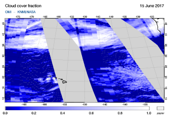 OMI - Cloud cover fraction of 15 June 2017