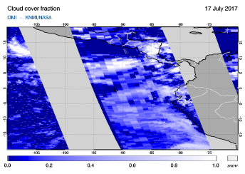 OMI - Cloud cover fraction of 17 July 2017