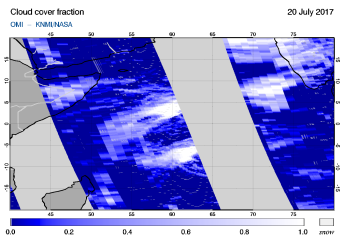 OMI - Cloud cover fraction of 20 July 2017