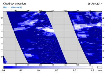OMI - Cloud cover fraction of 28 July 2017