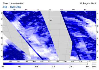 OMI - Cloud cover fraction of 16 August 2017