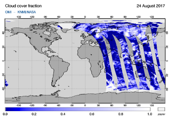 OMI - Cloud cover fraction of 24 August 2017