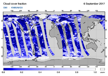 OMI - Cloud cover fraction of 06 September 2017