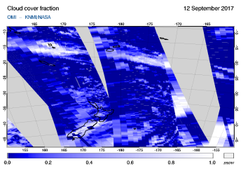 OMI -  Cloud cover fraction of 12 September 2017