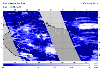 OMI - Cloud cover fraction of 17 October 2017