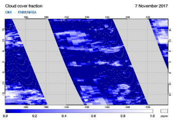 OMI - Cloud cover fraction of 07 November 2017