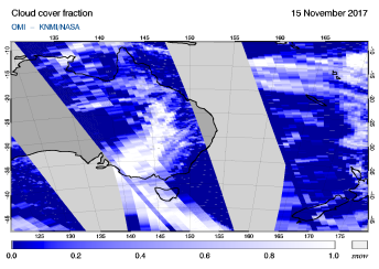 OMI - Cloud cover fraction of 15 November 2017