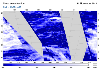 OMI - Cloud cover fraction of 17 November 2017