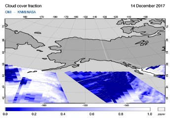 OMI - Cloud cover fraction of 14 December 2017
