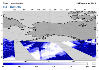 OMI - Cloud cover fraction of 15 December 2017