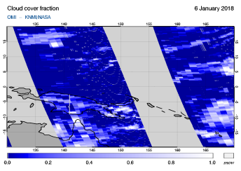 OMI - Cloud cover fraction of 06 January 2018