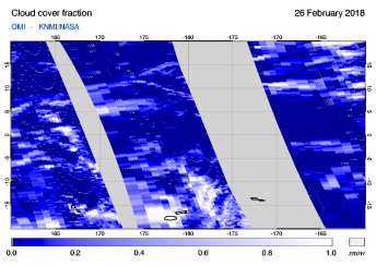OMI - Cloud cover fraction of 26 February 2018