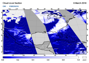 OMI - Cloud cover fraction of 06 March 2018