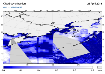 OMI - Cloud cover fraction of 26 April 2018