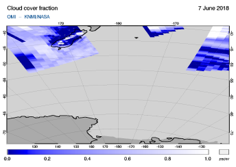 OMI - Cloud cover fraction of 07 June 2018
