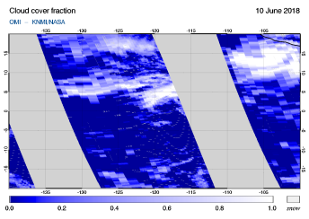 OMI - Cloud cover fraction of 10 June 2018