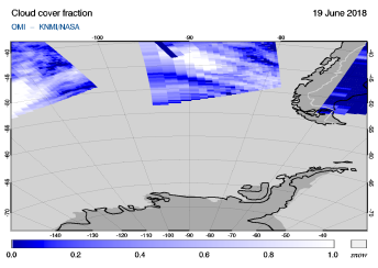 OMI - Cloud cover fraction of 19 June 2018