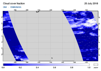 OMI - Cloud cover fraction of 20 July 2018