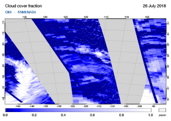 OMI - Cloud cover fraction of 26 July 2018