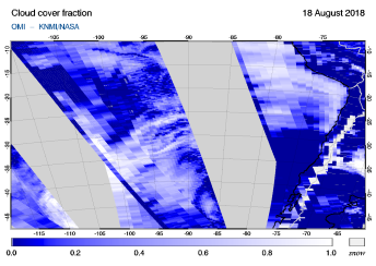 OMI - Cloud cover fraction of 18 August 2018