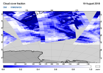 OMI - Cloud cover fraction of 19 August 2018