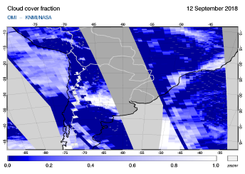OMI - Cloud cover fraction of 12 September 2018