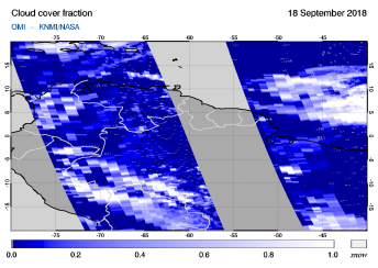 OMI - Cloud cover fraction of 18 September 2018