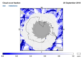 OMI - Cloud cover fraction of 20 September 2018