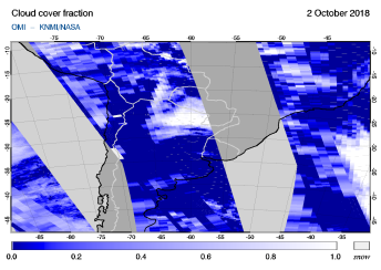 OMI - Cloud cover fraction of 02 October 2018
