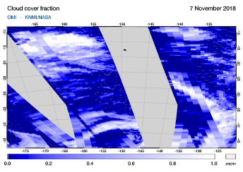 OMI - Cloud cover fraction of 07 November 2018