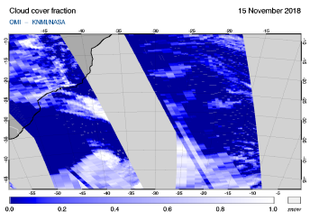 OMI - Cloud cover fraction of 15 November 2018