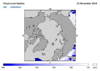 OMI - Cloud cover fraction of 24 November 2018