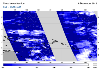 OMI - Cloud cover fraction of 06 December 2018