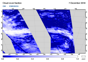 OMI - Cloud cover fraction of 07 December 2018