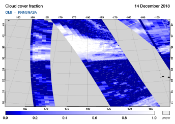 OMI - Cloud cover fraction of 14 December 2018