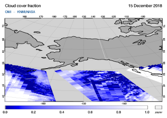 OMI - Cloud cover fraction of 15 December 2018