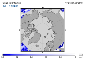 OMI - Cloud cover fraction of 17 December 2018