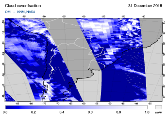 OMI - Cloud cover fraction of 31 December 2018