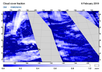 OMI - Cloud cover fraction of 06 February 2019