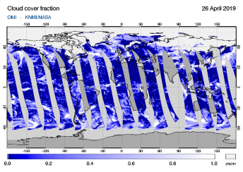 OMI - Cloud cover fraction of 26 April 2019