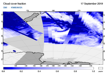 OMI - Cloud cover fraction of 17 September 2019