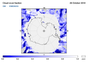 OMI - Cloud cover fraction of 26 October 2019