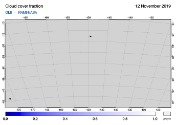 OMI - Cloud cover fraction of 12 November 2019