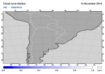 OMI - Cloud cover fraction of 15 November 2019